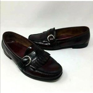 Men's 8.5 Cole Haan Leather Loafers Buckle Kiltie
